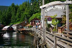 Buildings along historic Creek Street, Ketchikan, Alaska