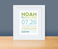 Personalized Birth Announcement Art...baptism gifts for the new babies!