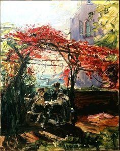 Wine Arbour on Neukastel, 1917 (1917) Max Slevogt