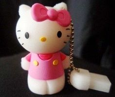 Pink Cute Hello Kitty Style USB flash drive with Keychain Usb Drive, Usb Flash Drive, Cheap Laptops For Sale, Light Cinema, Cat Themed Gifts, Pink Hello Kitty, Video Lighting, White Elephant Gifts, Cute Pink