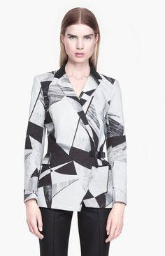 HELMUT LANG Cubist Print Canvas Jacket - Lyst