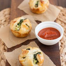Spinach and Feta Puff Pastry Bites Recipe. Would be a great Bunco food!