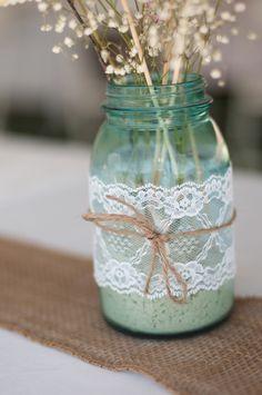 DIY Bride » Crafting Beautiful Weddings, One Project At A Time » Christi + Blaine's Vintage Backyard Wedding