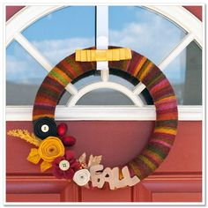 Fall wreath...love the colors in this!