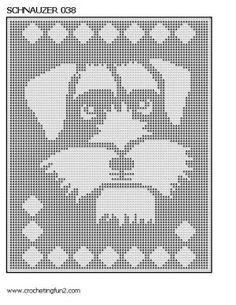 Schnauzer crochet pattern graph afghan | Mini Schnauzers ...