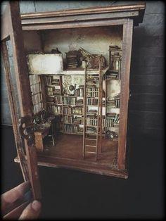 Miniatur-Bücherei-Bibliothek-miniatures- library