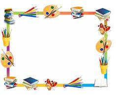 Borders For Paper, Borders And Frames, Preschool Certificates, Certificate Border, School Border, Frame Border Design, School Frame, Kids Background, Background Powerpoint