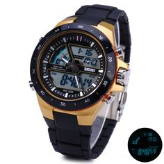 fdd19539a Skmei 1016 Water Resistance Sports LED Watch with Japan Double Movt Date  Day Alarm Stopwatch Function Rubber Band
