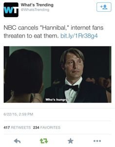 #savehannibal. Source: expertloner.tumblr Give me part of the butt meat