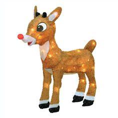 Rudolph 18-in. Pre-Lit Decor - Indoor and Outdoor, Multicolor