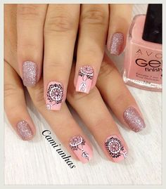 Facebook Love Nails, Fun Nails, Pretty Nails, Henna Nails, Nails Inc, Stylish Nails, Cool Nail Designs, Nail Tools, Short Nails