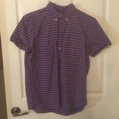 Modern Oxford Striped bottom shirt, bottoms stop mid way GAP Tops Button Down Shirts