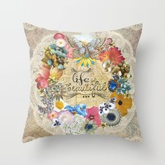 """""""Life is Beautiful"""" Throw Pillow / Pillow Cover$20.00 - $35.00"""