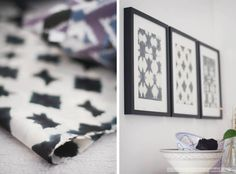 Tine K Home: Batik paper inspiration fraulein klein Art Walls, Wall Art, Decor Crafts, Home Decor, Print Patterns, Sweet Home, Photo Wall, Black And White, Inspired