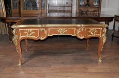 Antique French Empire Partners Desk Bureau Plat Writing Table Desks First French Empire, Carlton House, Partners Desk, Art Deco Desk, Antique Desk, Writing Table, Desk With Drawers, Empire Style, Desks