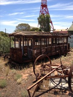 Abandoned tram, Kalgoorlie Western Australia, December 2012