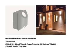 solicite datos técnicos: ventas@imexter.com #LightingDesign #Led #LedPared #BalizaLed #WallLed