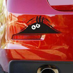 Reflective Waterproof Fashion Funny Peeking Monster Car Sticker vinyl decal