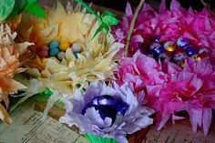 Coffee filter Easter Baskets! So cute and easy.