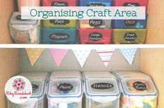 Organising the Kids Craft Area | Ruby Roundabout