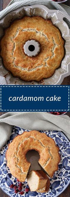 cardamom cake is easy to make and delicious. the cardamom flavor shines through but is not overwhelming. yogurt helps to lighten the cake. Swedish Recipes, Sweet Recipes, Cake Recipes, Dessert Recipes, Swedish Foods, Cardamon Recipes, Cardamom Cake, Great Desserts, Vegan Cake