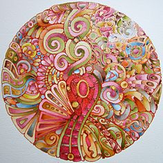 psychedelic - Earthy Mandala by Angela Porter zentangle Mandala Art, Mandala Drawing, Zen Doodle, Doodle Art, Design Lotus, Paisley, Shape Art, Coloring Book Pages, Crayon