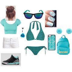 day at the beach by speakerknockerz-728 on Polyvore featuring Oakley, Le Temps Des Cerises, Moschino and CellPowerCases