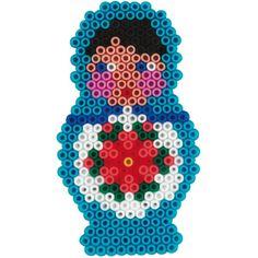 Jolie création en perles à repasser #diy #hama #matryoshka                                                                                                                                                      Plus