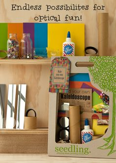 Build and create your own magical prisms with our Make Your Own Kaleidoscope Kit! www.seedling.com