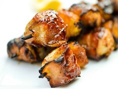 """Bacon-Wrapped Chicken Skewers with Pineapple and Teriyaki Sauce 
