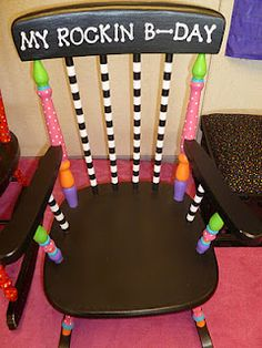 She transformed this $5 estate sale chair into a birthday chair for her students to sit in on their birthdays.