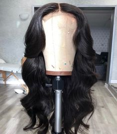 New Brazilian lace wig on Mercari Wig Styles, Curly Hair Styles, Natural Hair Styles, Baddie Hairstyles, Weave Hairstyles, Lace Front Wigs, Lace Wigs, Hair Laid, Braids For Black Hair