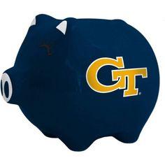 Ncaa Georgia Tech Yellow Jackets Ceramic Piggy Bank, Multicolor