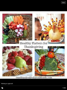 Healthy Thanksgiving platters