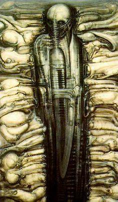 """HR Giger,Pintor,Hans Rudolf """"Ruedi"""" Giger é um pintor surrealista suíço,escultor e cenógrafo.Ele fazia parte da equipe de efeitos especiais,que ganhou um Oscar de Melhor Realização de Efeitos Visuais por seu trabalho de design no estrangeiro filme. N:5 de fevereiro de 1940 (idade 73),Chur,Suíça Período : A arte contemporânea Filmes : Duna de Jodorowsky Cônjuge : Carmen Maria Scheifele Giger (m. 2006) , Mia Bonzanigo (m. 1979-1982) Prêmios : Oscar de Efeitos Visuais , Spectrum Grande Mestre"""