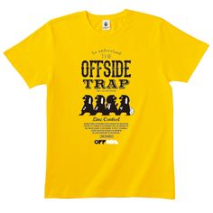 The Offside Trap 3 - victory yellow - デザインサッカーTシャツ|EVERYDAY FOOTBALL