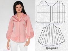 Amazing Sewing Patterns Clone Your Clothes Ideas. Enchanting Sewing Patterns Clone Your Clothes Ideas. Blouse Patterns, Clothing Patterns, Blouse Designs, Dressing Gown Pattern, Costura Fashion, Sewing Sleeves, Make Your Own Clothes, Easy Sewing Patterns, Mode Hijab