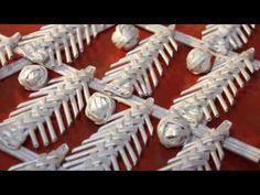 Новогодняя гирлянда из ёлочек - YouTube