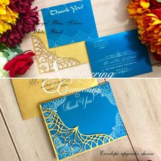 Moroccan Thank you card wedding event party card Arabian Nights Aladdin boho teal purple blue by ShimmeringCeremony on Etsy https://www.etsy.com/listing/572695853/moroccan-thank-you-card-wedding-event