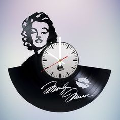 Marilyn Monroe sign Vinyl Record Wall Clock Unique Gift - VINYL CLOCKS