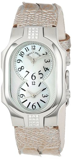 1d0ed4291 Amazon.com: Philip Stein Women's 1SD-NFMOP-OCHP Stainless Steel  Diamond-Accented Watch with Champagne Leather Band: Watches. Wrist WatchesMichael  Kors ...