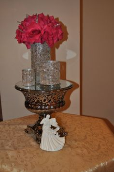 Hey, I found this really awesome Etsy listing at https://www.etsy.com/listing/124774983/set-of-3-bling-cylinder-vases