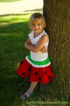 Watermelon Skirt Tutorial