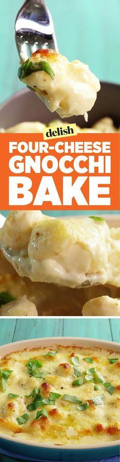 Four cheese gnocchi bake