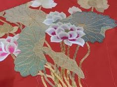 japanese lotus flower embroidery - Google Search