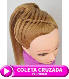 Las coletas con trenzas para cabello largo son muy faciles de hacer y sirven para toda ocasion por eso debes ver los videos tutoriales