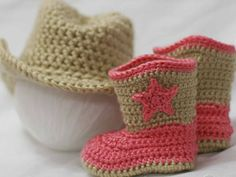 crochet cowboy and booties pattern