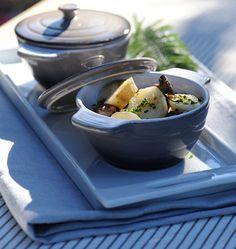 Cocotte de topinambours, poires et champignons - les meilleures recettes de cuisine d'Ôdélices