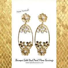 Have a classic Sunday just like these Boroque Earrings! Shop this New Arrival at http://www.labelmansion.com/hyp-16-4.html #labelmansion #jewellery #earrings #gold #pearl #shoponline #india