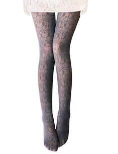 b85fcdc0715 Vero Monte 1 Pair Women s Hollow Out Knitted Patterned Tights (Navy) 44541  at Amazon